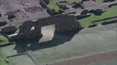 Roman Remains At Wroxeter Stock Footage