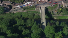 Ironbridge - First Metal Bridge In The World Stock Footage
