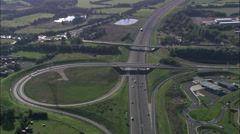 M6 Toll Road Stock Footage