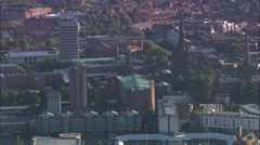 Coventry Cathedral And Old One Stock Footage