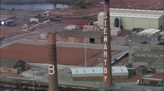 Stewartby Brickworks Near Bedford Stock Footage