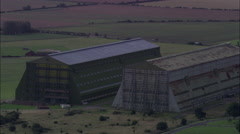 Cardington Hangars Old Airship Hangars Stock Footage