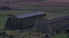 Cardington Hangars Old Airship Hangars - stock footage