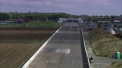 Santa Pod Drag Racing Track Stock Footage