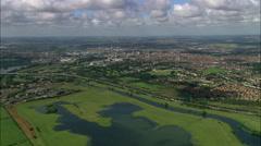 Northampton aerial Stock Footage