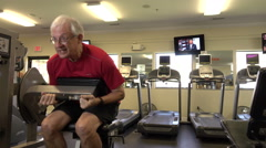 Mature Man Doing Crunches In Fitness Center Arkistovideo