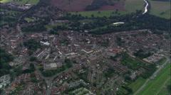 Warwick And Warwick Castle Stock Footage