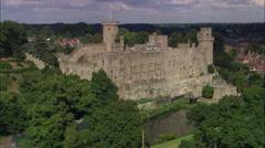 Warwick Castle Stock Footage