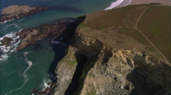 Godrevy Lighthouse And St Ives Bay Stock Footage