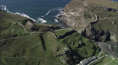 Tintagel Associated With King Arthur Stock Footage
