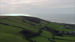 Approaching The Coast At Croyde Stock Footage
