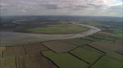 Burnham-On-Sea And River Parrett Stock Footage
