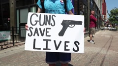 Guns Save Lives Stock Footage