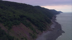 Exmoor Coast West Of Porlock Bay Stock Footage