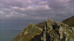 Valley Of Rocks By Lynton Stock Footage