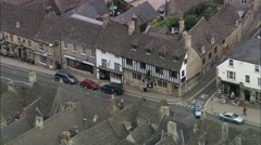 Burford aerial Stock Footage