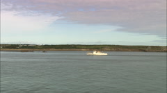 Ferry On Way To St Mary's With Pull Outs Stock Footage