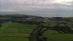 Fowey aerial Stock Footage