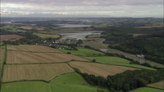 Approaching St Germans River With Plymouth In B/G Stock Footage