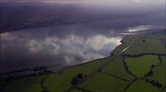 Exe Estuary With Refections In Water Stock Footage