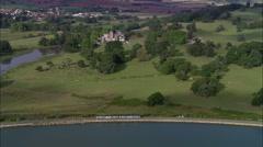 Local Train Along Exe Estuary Stock Footage
