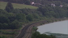 Express Train Approaching Teignmouth Stock Footage