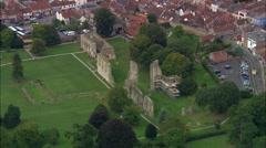 Glastonbury Abbey Stock Footage