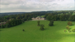 Stourhead House And Garden Reveal Of Garden Stock Footage