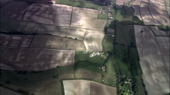 Dorset Village From Overhead Stock Footage