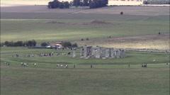 Stonehenge aerial Stock Footage