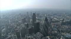 Financial Centre And The 'Gherkin' Stock Footage