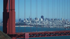 GOLDEN GATE BRIDGE Close up - stock footage