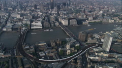 Ws Thames And Trains Moving - stock footage