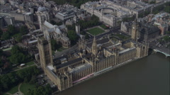 Houses Of Parliament With Parliament Square B/G Stock Footage