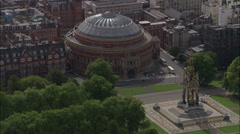 Albert Hall And Albert Memorial Stock Footage
