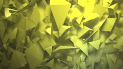 Abstract block shapes in yellow hue Stock Footage