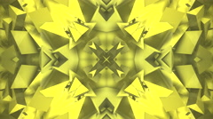 Abstract yellow kaleidoscope block shapes Stock Footage