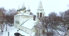 Church of Saint John the Divine in old russian city Kostroma. Stock Footage