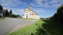 In italy sumirago ancient religion building for catholic  Stock Footage