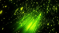 Elegant Particle Rays Green Loopable Background Stock Footage