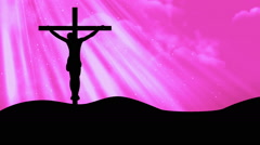 Crucifixion Worship Pink Loopable Background Stock Footage