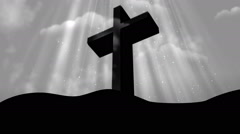 Worship Cross White Loopable Background Stock Footage