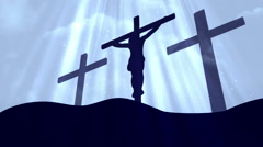 Good Friday Easter Cyan Loopable Background Stock Footage