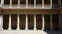 Padua - Palazzo del Bo - The Cortile Antico Stock Footage