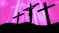 Good Friday Easter Pink Loopable Background Stock Footage