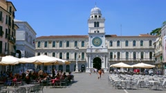 Padua - Piazza dei Signori - Accelerated view Stock Footage
