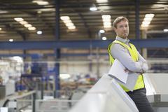 Portrait confident supervisor in steel factory Stock Photos