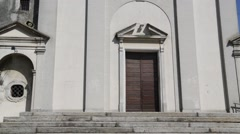 In italy sumirago ancient  religion  building for catholic tilt up shot.   Stock Footage