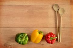 Colorful paprika Stock Photos
