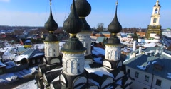 Antipievskaya church, situated in ancient russian town Suzdal. Stock Footage